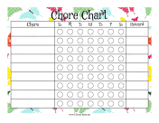 Butterfly Reward Chore Chart