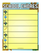 Classroom Activities Chore Chart