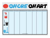 Cleaning Icon Chore Chart