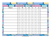 Colorful Blocks Reward Chore Chart