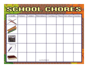 Leaves School Chore Chart