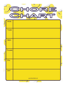 Smiley Face Chore Chart