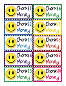 Smiley Face Chore Money