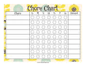 Sunflower Reward Chore Chart