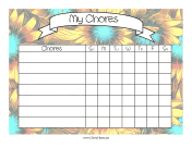 Sunflowers Chore Chart