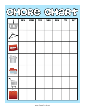 Around the Home Chore Chart