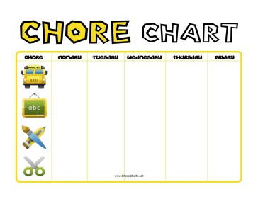 Before School Chore Chart