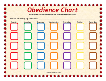 Child Obedience Chart