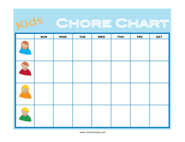 image about Printable Chore Charts for Multiple Children named Printable Childrens Chore Chart