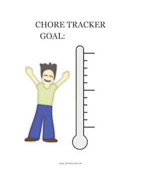 Chores Tracker Thermometer
