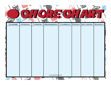 Cleaning Supplies Chore Chart