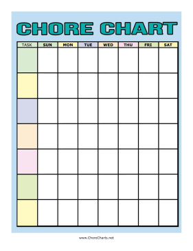 Colorful Chore Chart