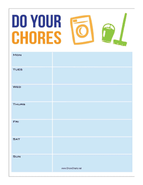 Do Your Chores Chore Chart
