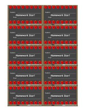 Homework Punch Card