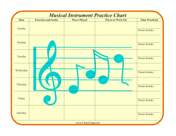 photograph about Music Practice Chart Printable Free titled Printable Musical Software Prepare Chart