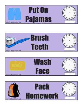 Nighttime Routine Schedule