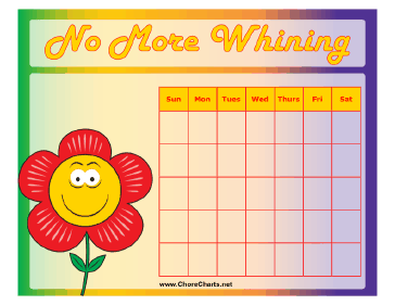 No More Whining Chart
