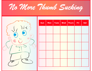 Thumb Sucking Chart