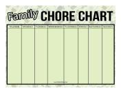 Outdoor Family Chore Chart